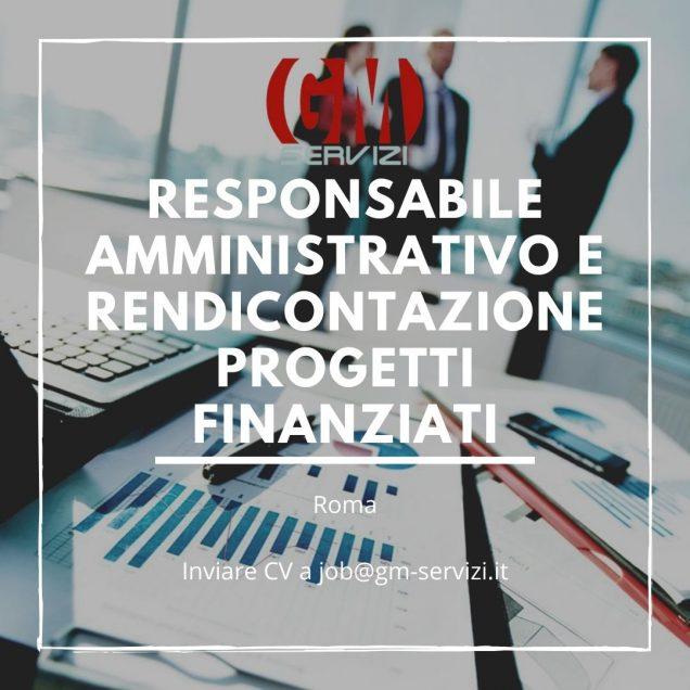 Responsabile Amministrativo e Rendicontazione Progetti Finanziati